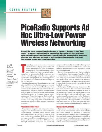 Computer: PicoRadio Supports Ad Hoc Ultra-Low Power Wireless ...