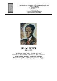 JULIAN TUWIM - Pedagogiczna Biblioteka Wojewódzka w Katowicach