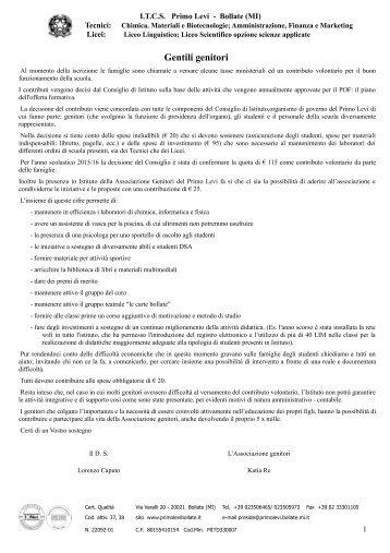 MODULO DOMANDA DI PERFEZIONAMENTO ... - ITCS Primo Levi