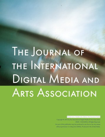 The Journal the International Digital Media Arts Association