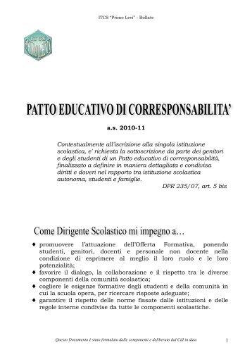 Patto di Corresponsabilità - ITCS Primo Levi