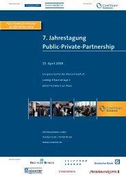 7. Jahrestagung Public-Private-Partnership - Convent
