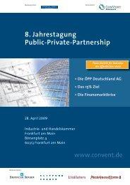 Die ÖPP Deutschland AG, das 15% Ziel - Convent