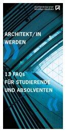 ARCHITEKT/ IN WERDEN 13 FAQs FÃœR STUDIERENDE UND ...