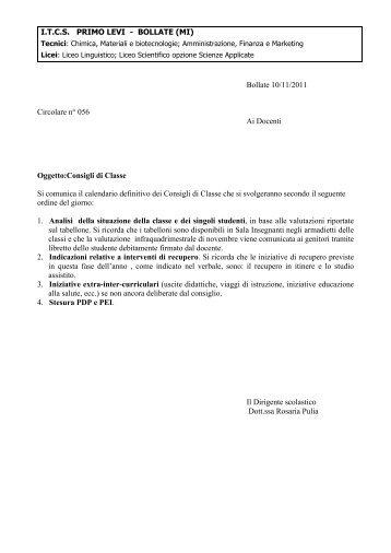 056 circ (cdc novembre) - ITCS Primo Levi