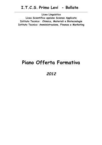 Piano Offerta Formativa - ITCS Primo Levi