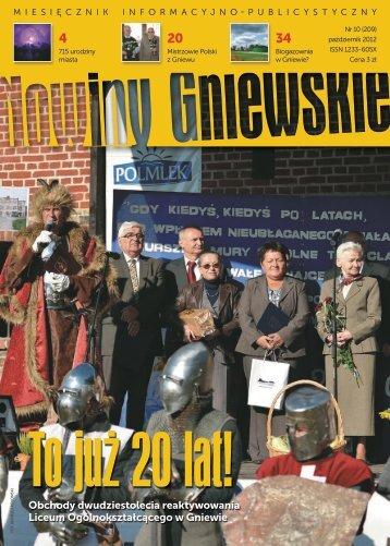 Nowiny Gniewskie październik 2012 - Miasto i Gmina Gniew