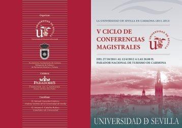 V CICLO DE CONFERENCIAS MAGISTRALES