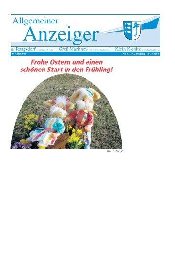"""Neue """"Ökis"""" gesucht - Rangsdorf - in der Gemeinde Rangsdorf"""
