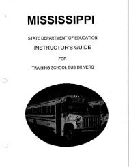 Instructor Guide for Training School Bus Drivers - the Mississippi ...