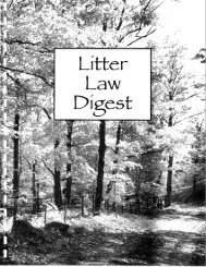 Litter Law Guidelines - the Mississippi Office of Healthy Schools