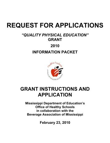 REQUEST FOR APPLICATIONS