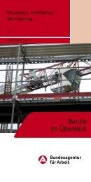 1 Bauwesen, Architektur, Vermessung - Bundesagentur für Arbeit
