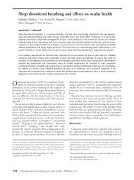 Sleep-disordered breathing and effects on ocular health