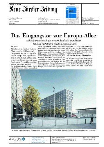 NZZ von 19.04.2012, 711 KB - Europaallee