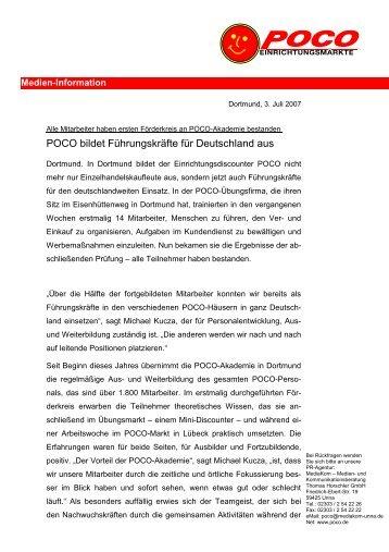 POCO bildet Führungskräfte für Deutschland aus
