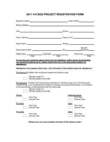 Official CPE Membership, Jr Handler and Dog Registration Form