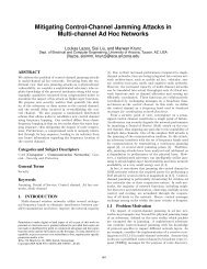 Mitigating Control-Channel Jamming Attacks in Multi-channel Ad ...
