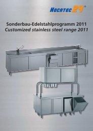 Profi-Edelstahlprogramm Professional stainless steel range