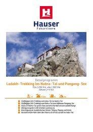 Ladakh- Trekking ins Nubra- Tal und Pangong - Hauser exkursionen