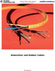 Allweather and Rubber Cables - Hi-Tech Controls