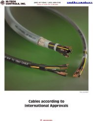 Cables according to International Approvals