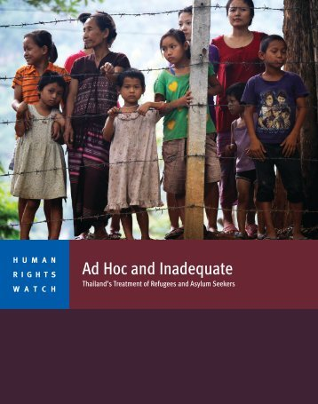Ad Hoc and Inadequate - Human Rights Watch