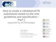 How to create a validated eCTD submission based on the new