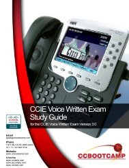 CCIE Voice Written Exam Study Guide - CCBootcamp