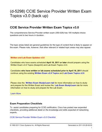 CCIE Service Provider Version 4 Written and Lab ... - Leanpub