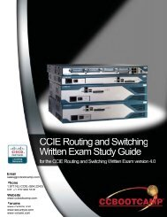 CCIE Routing and Switching Written Exam Study Guide - CCBootcamp
