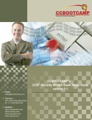 CCBOOTCAMP's CCIE Security Written Exam Study Guide version 1.1