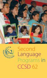 Second Language Programs in CCSD 62