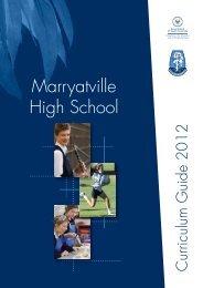 Curriculum Handbook (PDF) - Marryatville High School