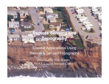 Remote Sensing and Topography