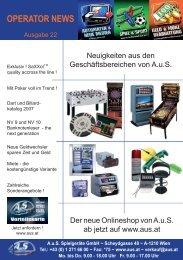 klicken für Ausgabe 22 -2007 (pdf) - Automaten Onlineshop