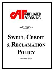 SWELL CREDIT RECLAMATION POLICY