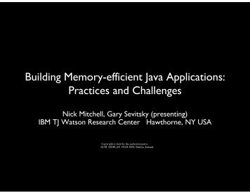 Building Memory-efficient Java Applications Practices and Challenges