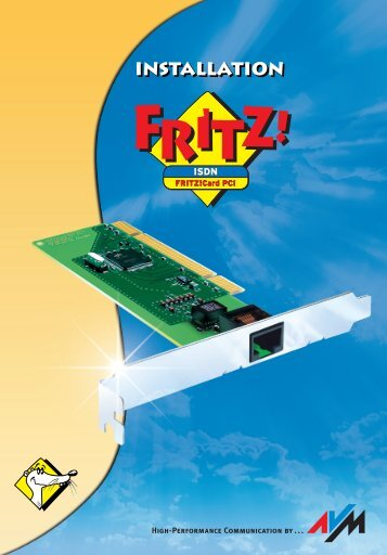 Handbuch FRITZ!Card PCI - AVM