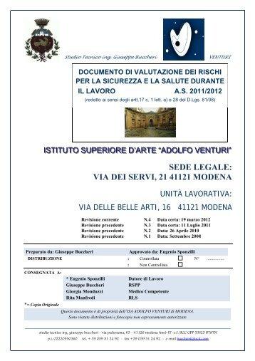 SEDE LEGALE: VIA DEI SERVI, 21 41121 MODENA - A. Venturi