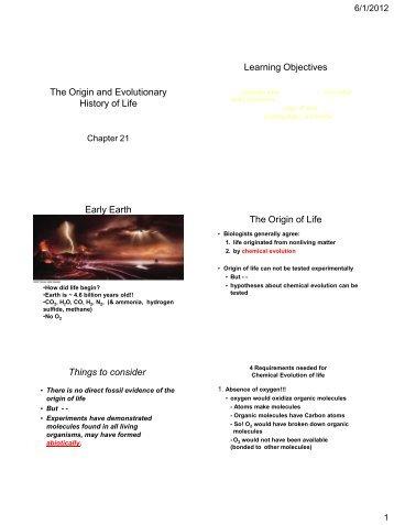 Cha. 15 Origin of Life