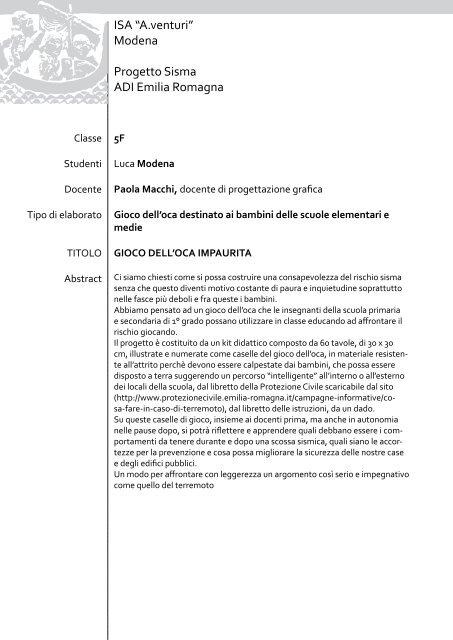 GIOCO DELL'OCA IMPAURITA - A. Venturi