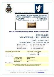 SEDE LEGALE: VIA DEI SERVI, 21 41121 MODENA ... - A. Venturi