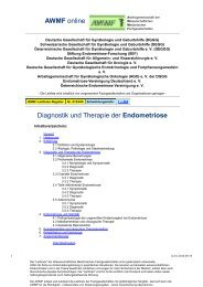 015-045 S1 Diagnostik und Therapie der Endometriose 05 ... - AWMF