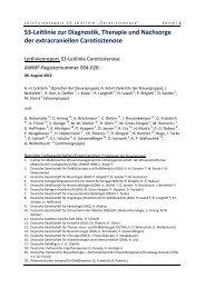 S3-Leitlinie zur Diagnostik, Therapie und Nachsorge der - AWMF