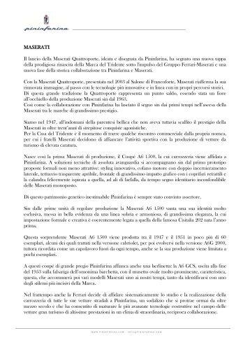 IL PDF COMPLETO DELLA COLLABORAZIONE - Pininfarina