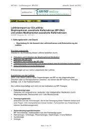 Leitlinienreport zur S3-Leitlinie: Bisphosphonat- assoziierte - AWMF