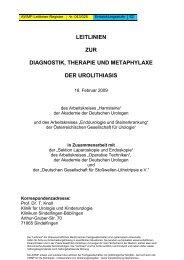 leitlinien zur diagnostik, therapie und metaphylaxe der ... - AWMF