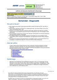 030-017 S1 Schwindel - Diagnostik 10-2008 10-2013 - AWMF