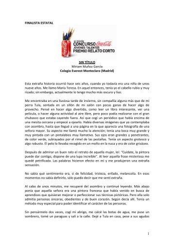 FINALISTA ESTATAL COMUNIDAD DE MADRID - Coca-Cola